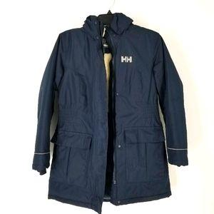 Helly Hansen 152 12 Navy Blue Sherpa Coat Kids